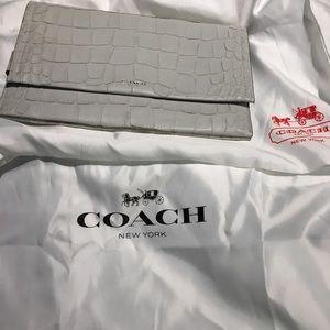 Coach Grey large clutch